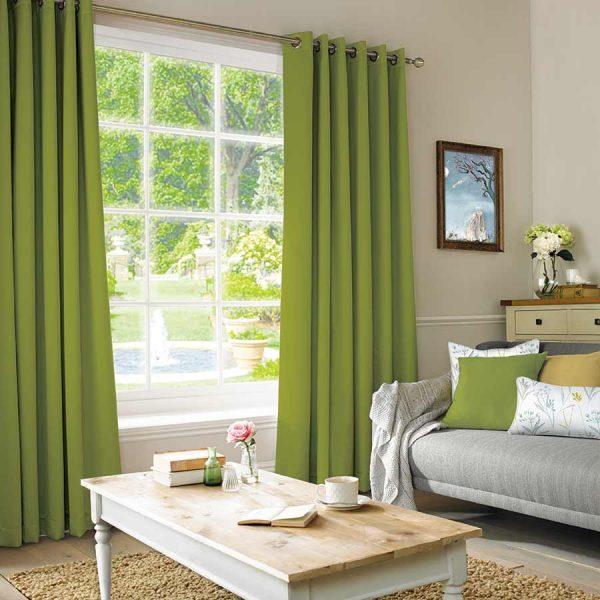 Plains Lime Curtain