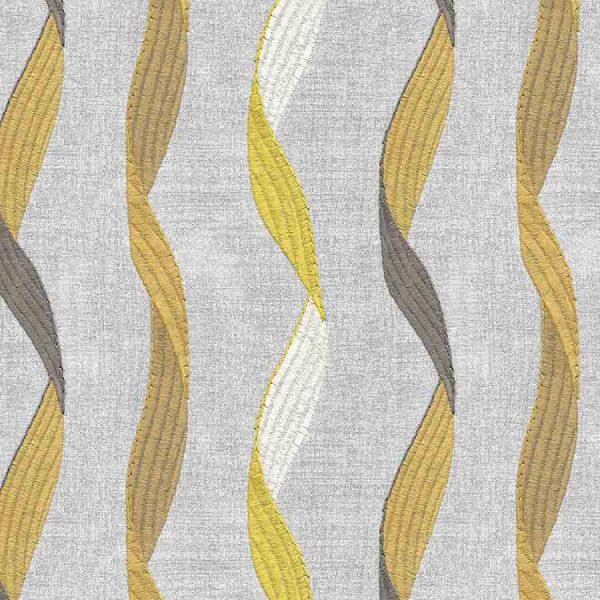 Ribbon Dijon Curtain
