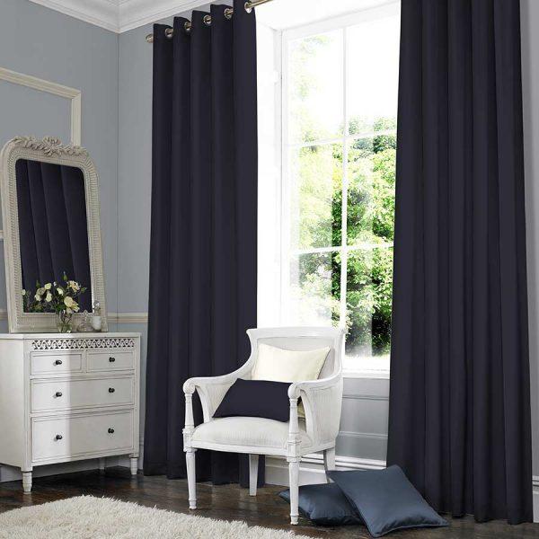 SILKY NAVY Curtain