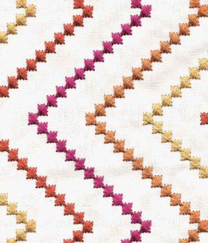 ZigZag Tangerine Curtain
