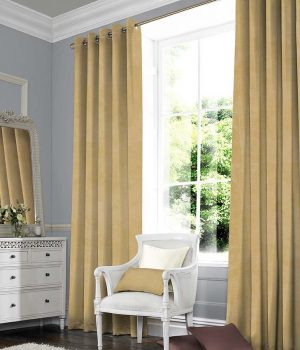 Suede Yellow curtains