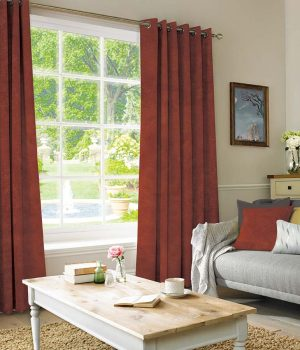 Suede Red Curtain