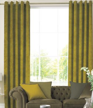 Suede Green Curtains