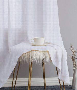 Mesh Chalk Sheer Curtains